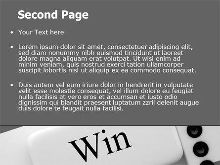 Win Domino PowerPoint Template, Slide 2, 07382, Business Concepts — PoweredTemplate.com