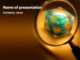 Global: Welt im glas PowerPoint Vorlage #07383