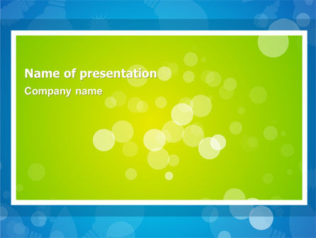 Abstract/Textures: Aqua-Green Frame PowerPoint Template #07385