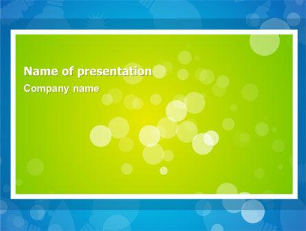 Aqua-Green Frame PowerPoint Template