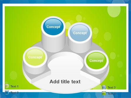 Aqua-Green Frame PowerPoint Template Slide 12