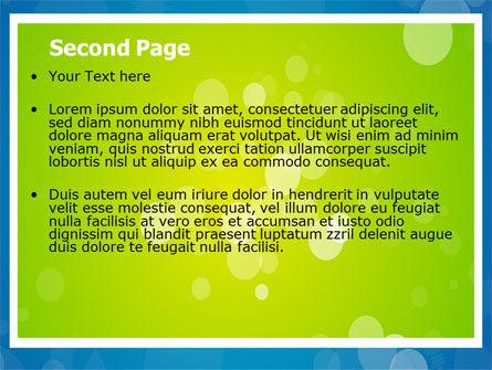 Aqua-Green Frame PowerPoint Template, Slide 2, 07385, Abstract/Textures — PoweredTemplate.com