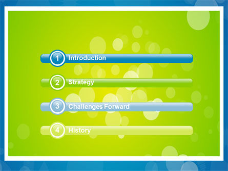 Aqua-Green Frame PowerPoint Template, Slide 3, 07385, Abstract/Textures — PoweredTemplate.com