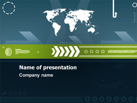 Global Development PowerPoint Template, 07387, Global — PoweredTemplate.com