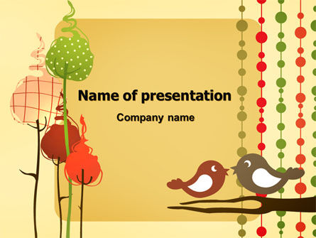Home Decor PowerPoint Template, 07388, Education & Training — PoweredTemplate.com