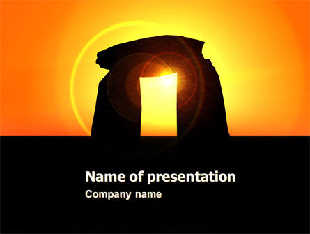 Megaliths PowerPoint Template, 07389, Religious/Spiritual — PoweredTemplate.com