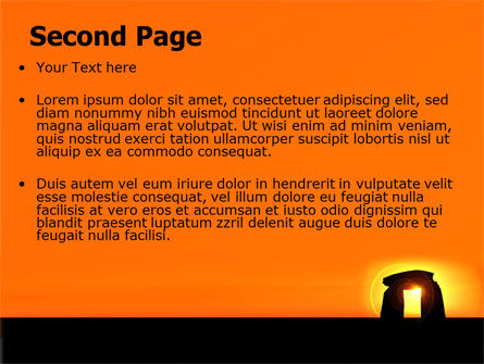 Megaliths PowerPoint Template, Slide 2, 07389, Religious/Spiritual — PoweredTemplate.com