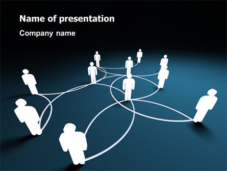 Telecommunication: Social Network Scheme PowerPoint Template #07390
