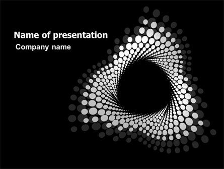 Concept Vortex PowerPoint Template, 07392, Abstract/Textures — PoweredTemplate.com