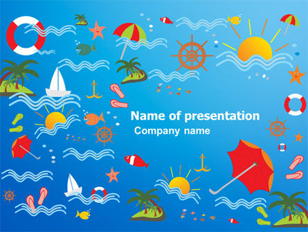 vacation time powerpoint template, backgrounds | 07393, Modern powerpoint