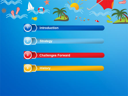 Vacation Time PowerPoint Template, Slide 3, 07393, Art & Entertainment — PoweredTemplate.com