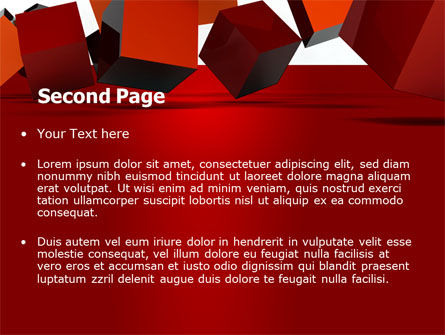 3D Red Cubes PowerPoint Template, Slide 2, 07394, 3D — PoweredTemplate.com