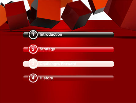 3D Red Cubes PowerPoint Template, Slide 3, 07394, 3D — PoweredTemplate.com