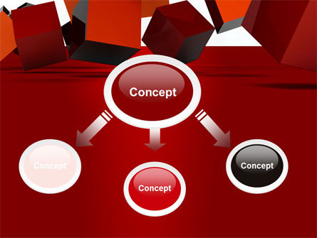 3D Red Cubes PowerPoint Template, Slide 4, 07394, 3D — PoweredTemplate.com