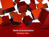3D: 3D Red Cubes PowerPoint Template #07394
