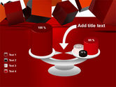 3D Red Cubes PowerPoint Template#10