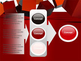3D Red Cubes PowerPoint Template#11