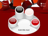 3D Red Cubes PowerPoint Template#12