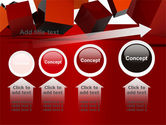 3D Red Cubes PowerPoint Template#13