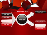 3D Red Cubes PowerPoint Template#14