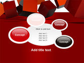 3D Red Cubes PowerPoint Template#16