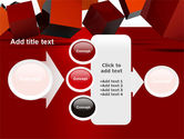 3D Red Cubes PowerPoint Template#17