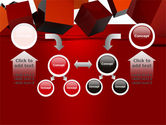 3D Red Cubes PowerPoint Template#19