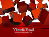 3D Red Cubes PowerPoint Template#20