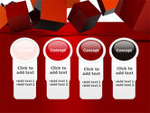 3D Red Cubes PowerPoint Template#5