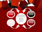 3D Red Cubes PowerPoint Template#6