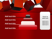 3D Red Cubes PowerPoint Template#8