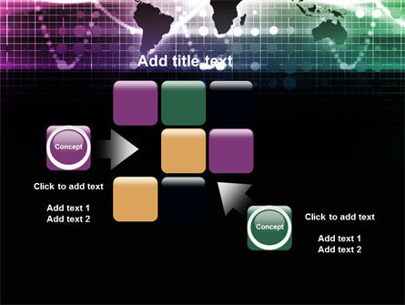 Glowing World Map PowerPoint Template Slide 16