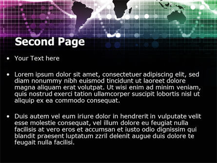 Glowing World Map PowerPoint Template, Slide 2, 07395, Global — PoweredTemplate.com