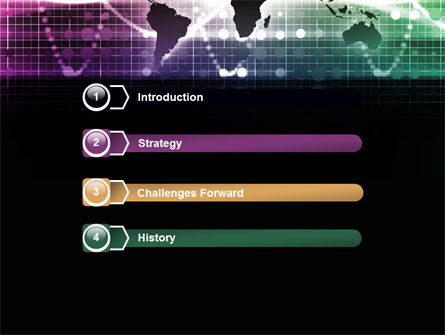 Glowing World Map PowerPoint Template, Slide 3, 07395, Global — PoweredTemplate.com