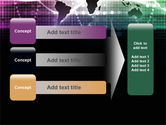 Glowing World Map PowerPoint Template#12