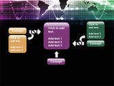 Glowing World Map PowerPoint Template#13