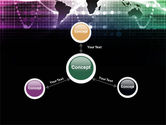 Glowing World Map PowerPoint Template#14