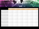 Glowing World Map PowerPoint Template#15