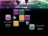 Glowing World Map PowerPoint Template#16