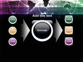 Glowing World Map PowerPoint Template#17