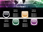 Glowing World Map PowerPoint Template#19