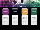 Glowing World Map PowerPoint Template#5