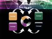 Glowing World Map PowerPoint Template#6