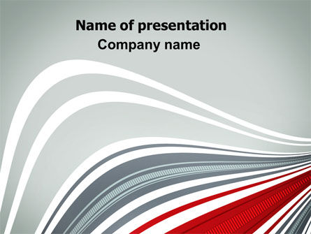 Gray Wave PowerPoint Template