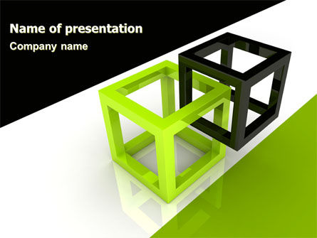 Integrated Cubes PowerPoint Template, 07398, Consulting — PoweredTemplate.com