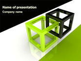 Consulting: Integrated Cubes PowerPoint Template #07398