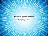 Technology and Science: Ray-like Pattern PowerPoint Template #07399