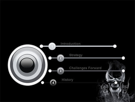 Smoke Skulls PowerPoint Template, Slide 3, 07402, General — PoweredTemplate.com