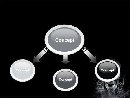 Smoke Skulls PowerPoint Template Slide 4
