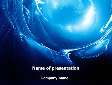 Blue Smoky Circles PowerPoint Template